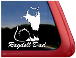 Ragdoll Dad Cat Car Truck RV Window Decal Sticker