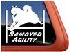Samoyed Agility Dog Window Decal