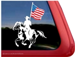 American Paint Drill Horse Window Decal