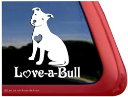 Love A Bull Pit Bull Dog Decals Amp Stickers Nickerstickers