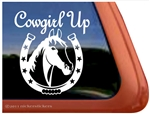 Horse Shoe Horse Trailer Window Decal