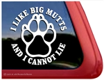 I Like Big Mutts Paw Print Dog iPad Car Truck Window Decal