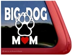 Big Dog Mom Paw Print Car Truck RV Window Decal Sticker