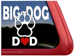 Big Dog Dad Paw Print Car Truck RV Window Decal Sticker