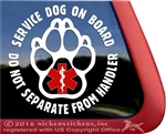 Service Dog  Paw Print Car Truck Window Decal Sticker