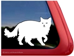 Fluffy Cat Window Decal