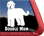 Goldendoodle Labradoodle Mum Window Decal