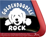 Funny Goldendoodle Dog iPad Car Truck RV Window Decal Sticker