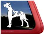 Harlequin Great Dane Window Decal