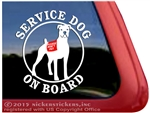 Boxer Service Dog Car Truck RV Window Decal Sticker