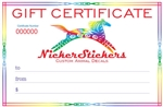 Gift Certificate for Animal Decals