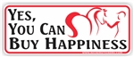 Buy Happiness Bumper Sticker