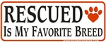 Rescued  Bumper Sticker