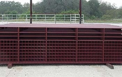 12' BROWN ALL-PIPE GATE