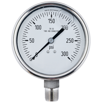 "4"" Liquid Filled Pressure Gauges"