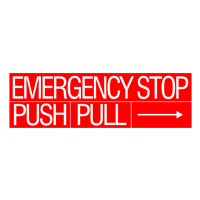 Emergency Stop Decal