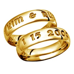LifeMates 5.5MM 14K Gold Band