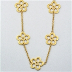 Giselle's Breezy Pensamiento Flower Necklace