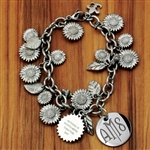 Vesta Fields of Sunflowers Twilight Monogram