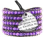Vesta Mother's Heart Amethyst Purple Wrap Bracelet