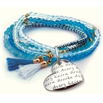Vesta Mother's Heart Celeste Tassel Bracelet
