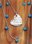 Vesta Mother's Heart Iris Necklace