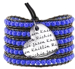 Vesta Mother's Heart Spinel Blue Wrap Bracelet
