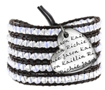 Vesta Mother's Heart Spinel White Wrap Bracelet