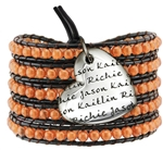 Vesta Mother's Heart Topaz Gold Wrap Bracelet