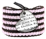 Vesta Mother's Heart Tourmaline Pink Wrap Bracelet
