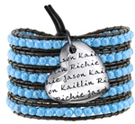 Vesta Mother's Heart Zircon Blue Wrap Bracelet