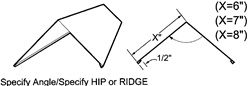 Ridge & Hip Cap Roofing Ridge Cap For Metal Roofing Systems