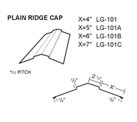Metal Roof Ridge Cap for Metal Roof Systems