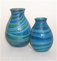 Blue-Green Swirl Vase