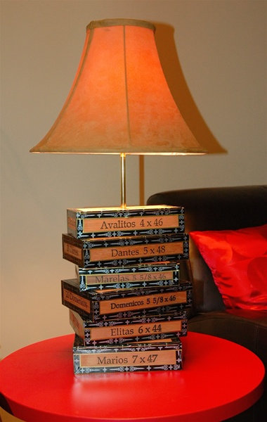 Cruzado Cigar Box Lamp