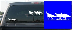 3 Walking Toms Decal