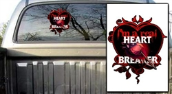 Heart Breaker Black Decal