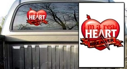 Heart Breaker Red Decal