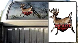 Heart Breaker Deer Decal