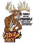 Billy Bob Expandable Buck Deer Decal