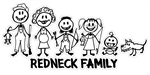 Billy Bob Redneck Family Decal