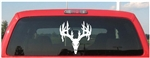 Double Drop Skull Deer Decal