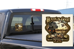 HIG Dogs Ducks Decoys Decal