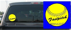 Fastpitch Softball Decal
