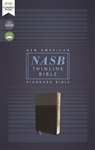 NASB Thinline Bible (1995 Text) - Black/Charcoal, Comfort Print (Red Letter Edition)