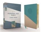 NIV Personal Size Bible, Large Print - Teal/Gold (Red Letter Edition, Comfort Print)