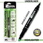 Zebrite Double-Ended Bible Highlighter - Green