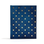 CSB Notetaking Bible - Navy/Cross Cloth-Over-Board