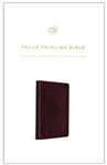 ESV Value Thinline Bible - Chestnut with Filigree Design