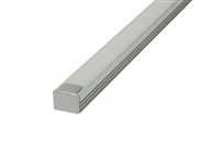 "Aluminum profile, channel, extrusion ""B2"", for LED strips. 8 feet long, 0.7"" inches wide, and 0.6"" inches high. Use with LED strips for under cabinet lighting, under counter lighting, showcase lighting, and cove lighting. Stocked and Shipped from Miami"